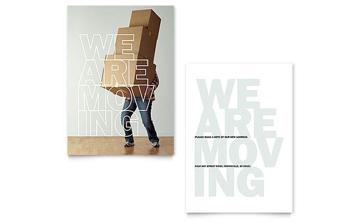 We\u0027re Moving Announcement Template Design