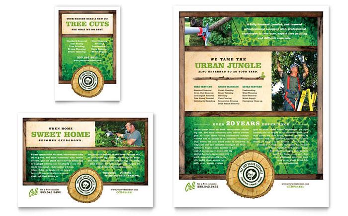 Tree Service Flyer  Ad Template Design