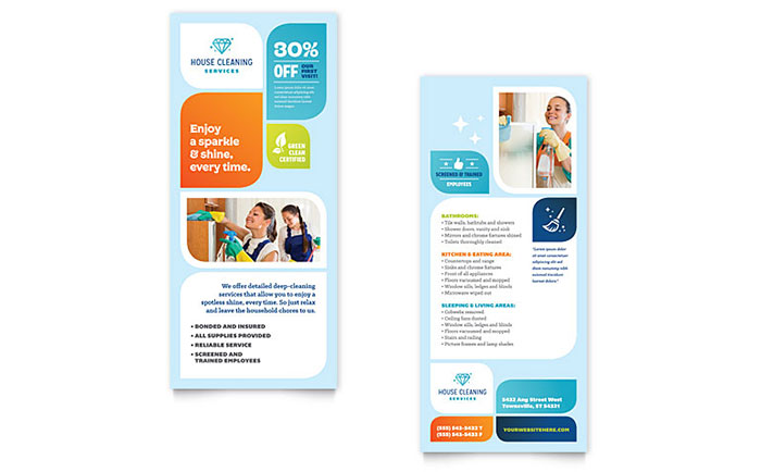 Rack Card Templates - InDesign, Illustrator, Publisher, Word, Pages - card design template