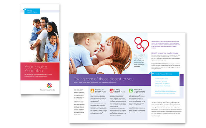 Medical Insurance Brochure Template Design - insurance flyer templates
