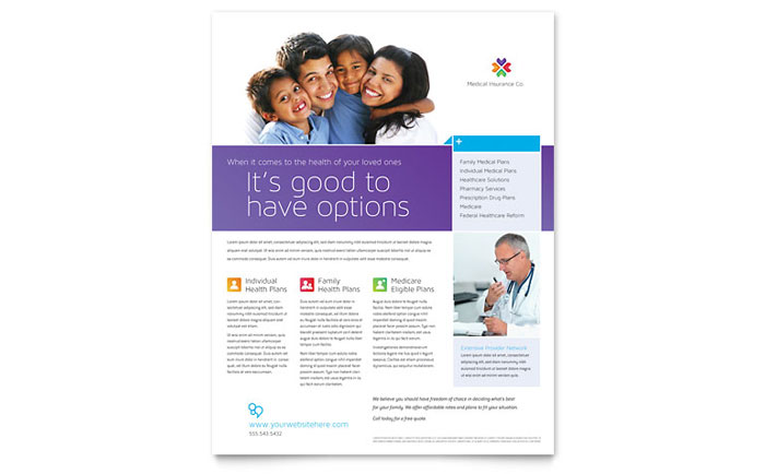 Medical Insurance Flyer Template Design - insurance flyer templates