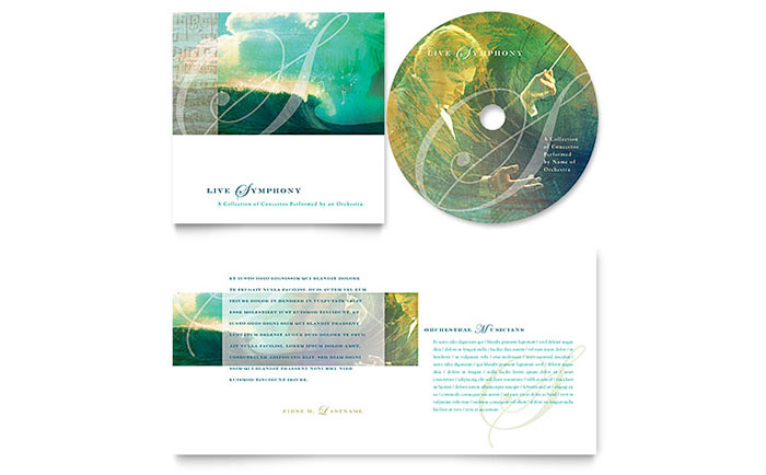 Symphony Orchestra Concert Event CD Booklet Template Design - booklet templates
