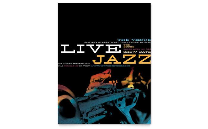 Jazz Music Event Flyer Template Design