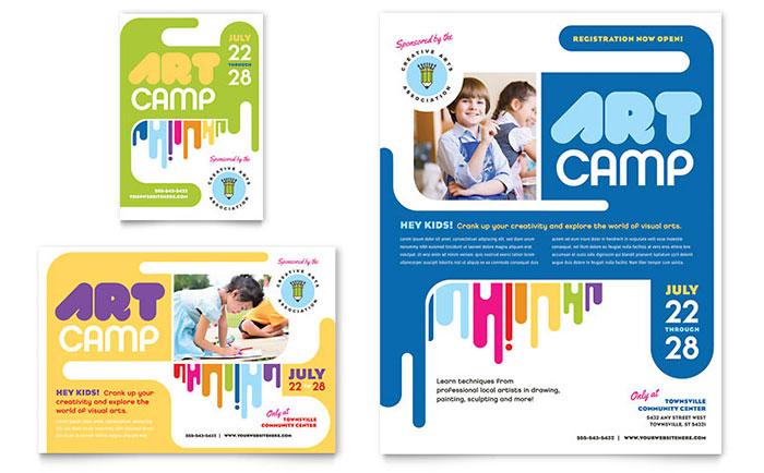 Kids Art Camp Flyer  Ad Template Design
