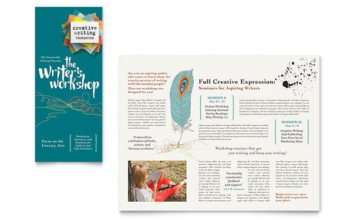 Writer\u0027s Workshop Brochure Template Design