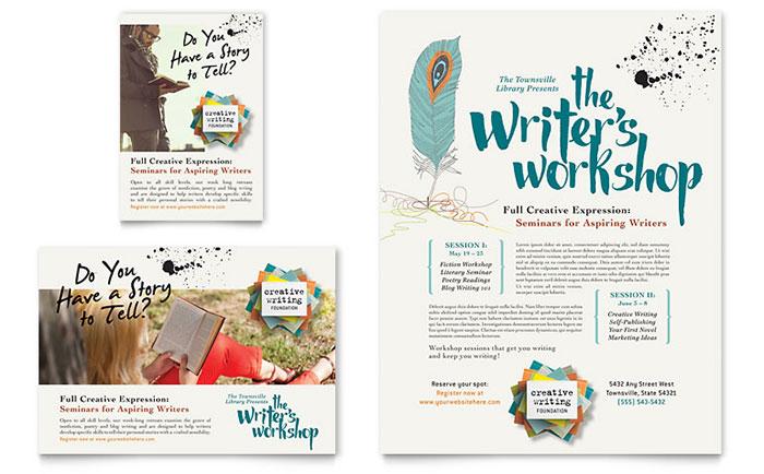 Writer\u0027s Workshop Flyer  Ad Template Design
