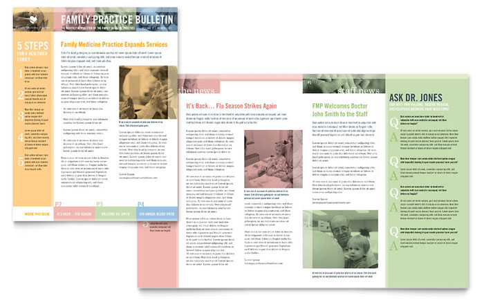 Physicians Office Newsletters Templates  Graphic Designs - office newsletter