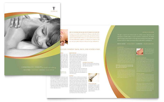 Massage  Chiropractic Brochure Template Design