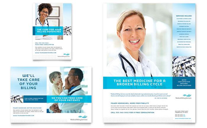 Medical Billing  Coding Flyer Template Design - Medical Brochure Template