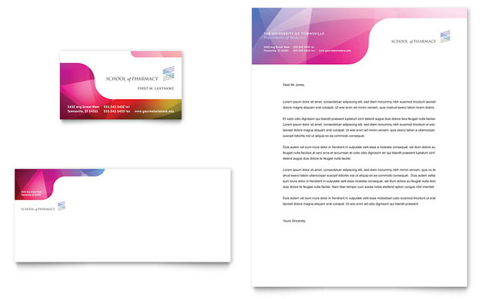 Medical  Health Care Letterheads Templates  Design Examples - Free Business Letterhead Templates For Word