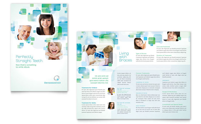 Medical  Health Care Brochures Templates  Design Examples - Medical Brochure Template
