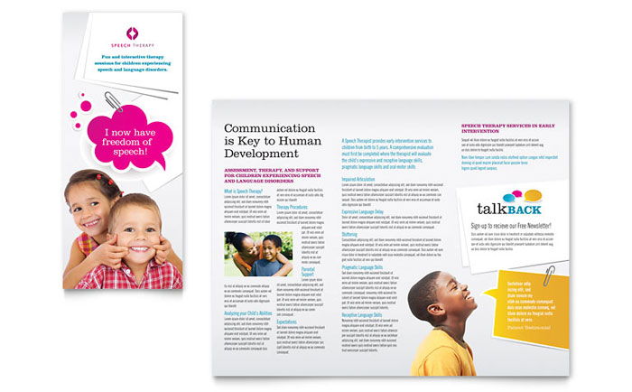 Preschool  Kindergarten Pamphlets Templates  Graphic Designs