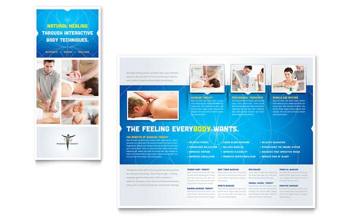 Reflexology  Massage Brochure Template Design