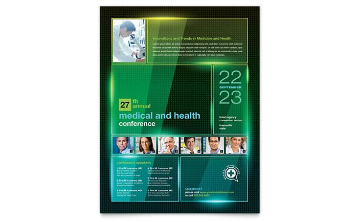 Medical Conference Flyer Template Design