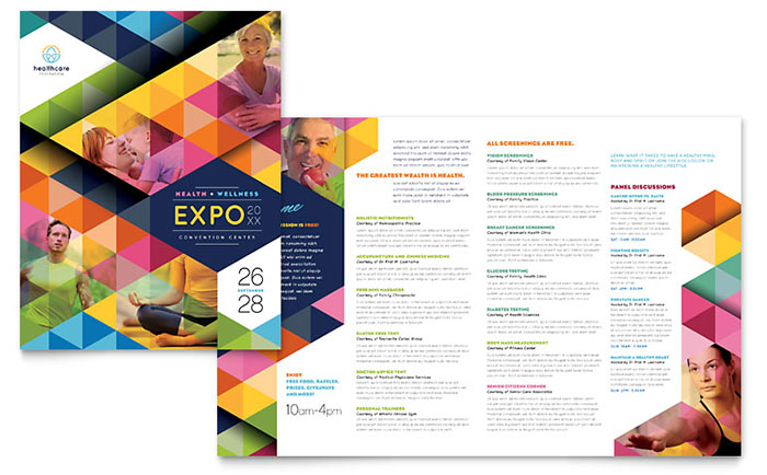 Health Fair Brochure Template Design