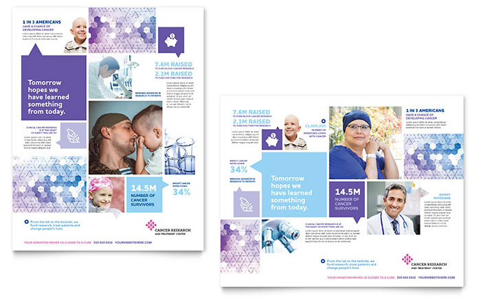 Cancer Treatment Poster Template Design - poster word template