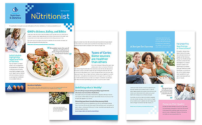 Dietitian Newsletter Template Design