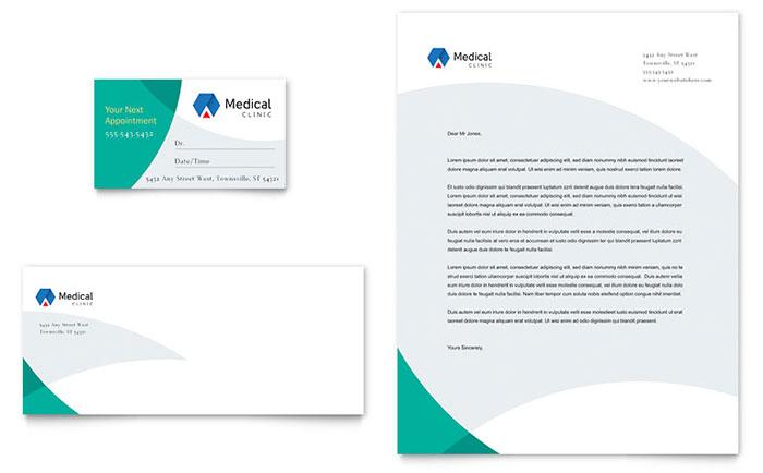 Doctor\u0027s Office Business Card  Letterhead Template Design
