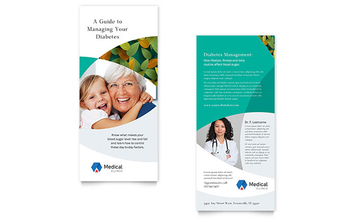 Doctor\u0027s Office Rack Card Template Design
