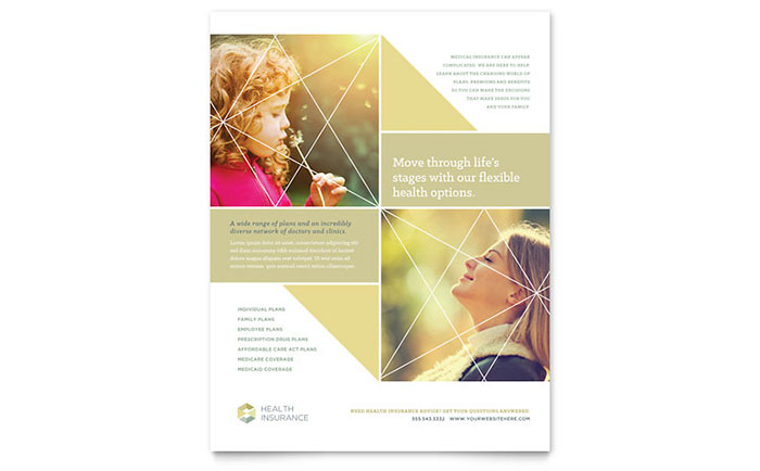 Medical  Health Care Flyers Templates  Design Examples - Flyer Outline
