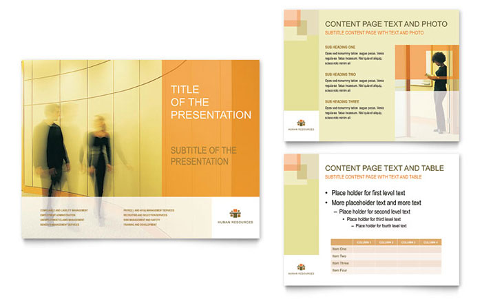 HR Consulting PowerPoint Presentation Template Design - company presentation template ppt