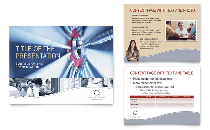 Marketing Consulting Group PowerPoint Presentation Template Design - consulting presentation templates