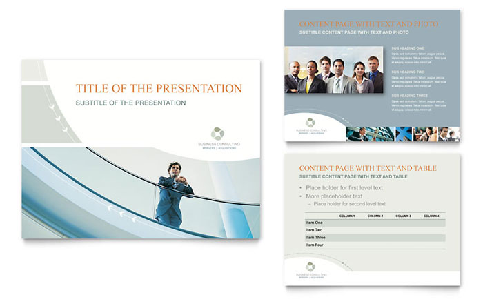 Business Consulting PowerPoint Presentation Template Design - consulting presentation templates