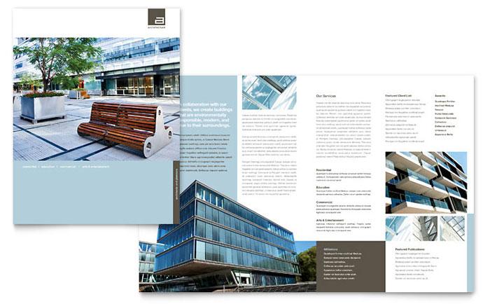 Architect Brochure Template Design - architecture brochure template