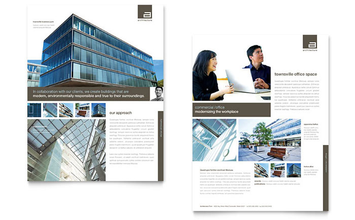 Architect Brochure Template Design - architecture brochure template
