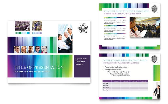 Business Leadership Conference Brochure Template Design - conference brochure template