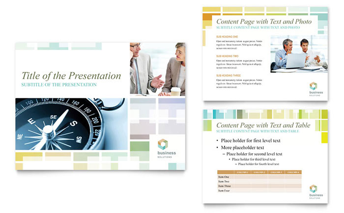 Business Solutions Consultant PowerPoint Presentation Template Design - consulting presentation templates