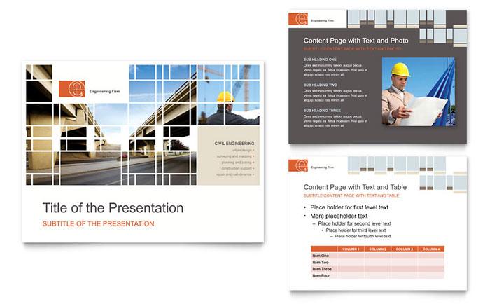 Civil Engineers Flyer Template Design - powerpoint flyer template