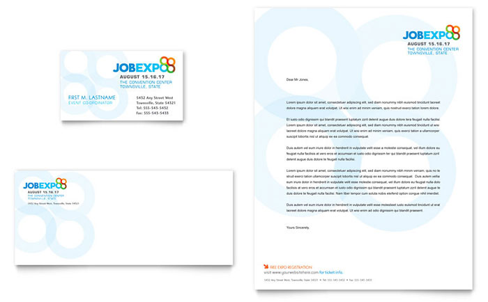 Business Events Letterheads Templates  Design Examples