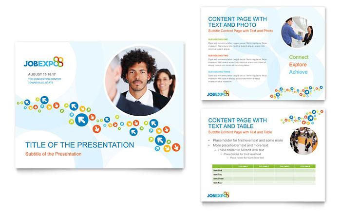 Job Expo  Career Fair PowerPoint Presentation Template Design