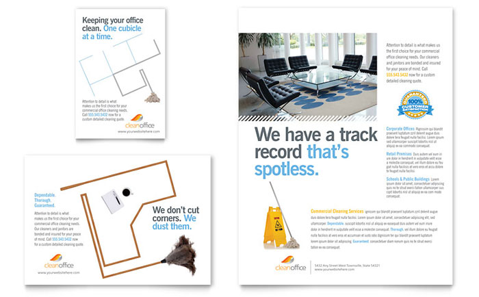 Cleaning Services Brochure Template Design - cleaning brochure template