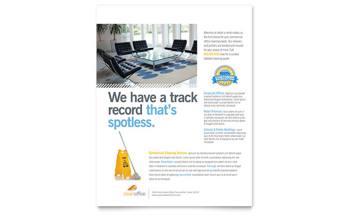 cleaning flyers templates free