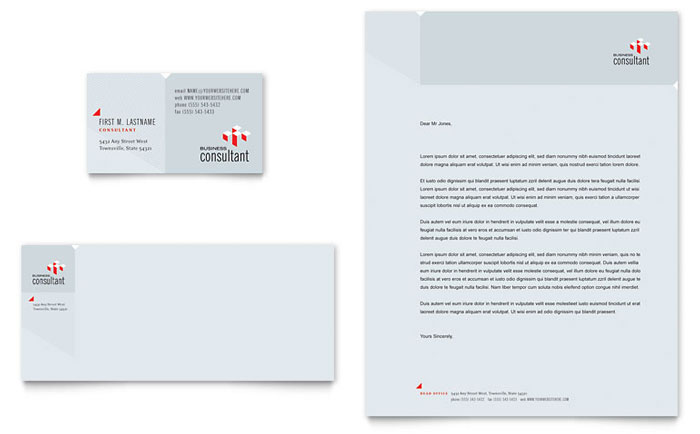 Corporate Business Business Card  Letterhead Template Design