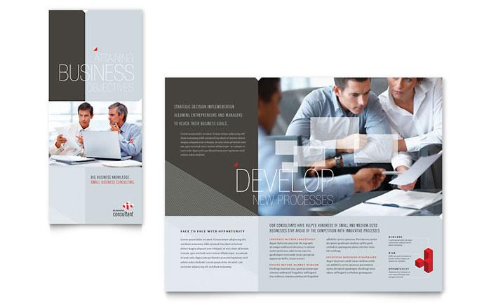 Corporate Business Tri Fold Brochure Template Design - corporate newsletter template