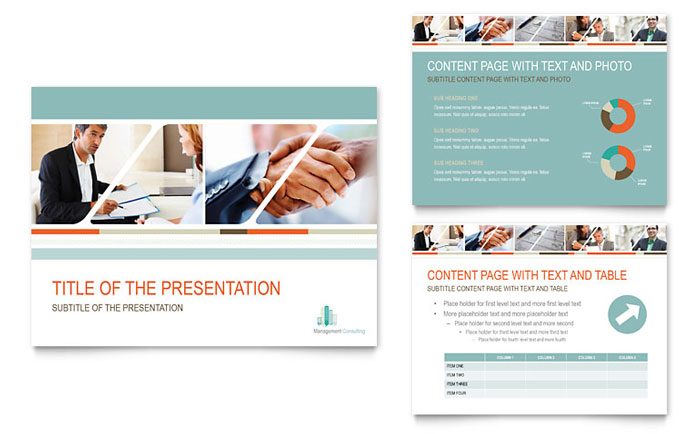 Management Consulting PowerPoint Presentation Template Design - consulting presentation templates
