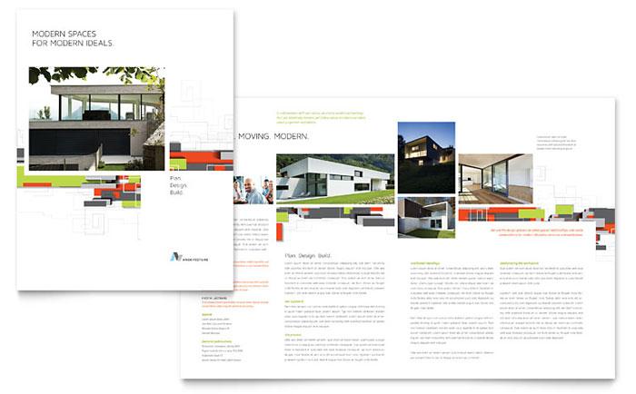 Architectural Design Brochure Template Design - architecture brochure template