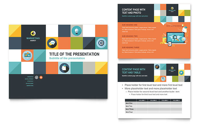 Advertising Company PowerPoint Presentation Template Design - Presentations Template