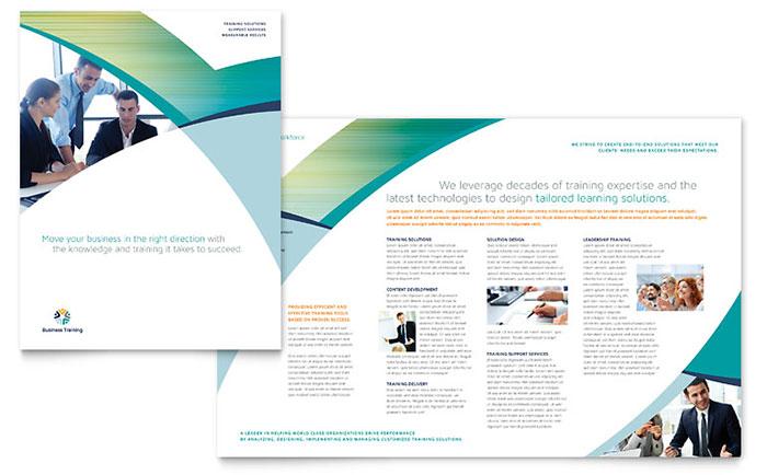 Business Training Brochure Template Design