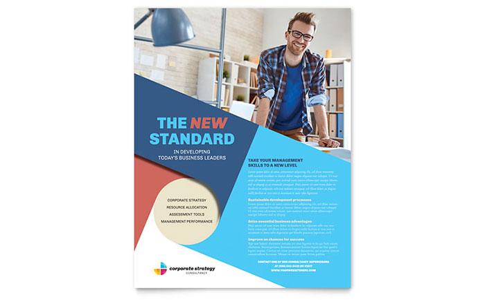 Corporate Strategy Flyer Template Design - membership brochure template
