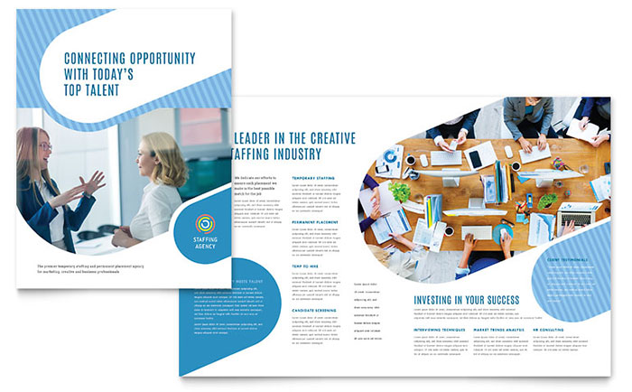 Employment Agency Brochure Template Design - free pamphlet design