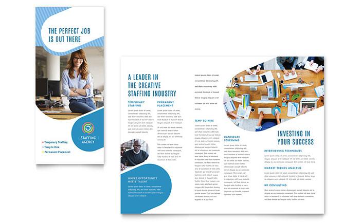 Employment Agency Tri Fold Brochure Template Design