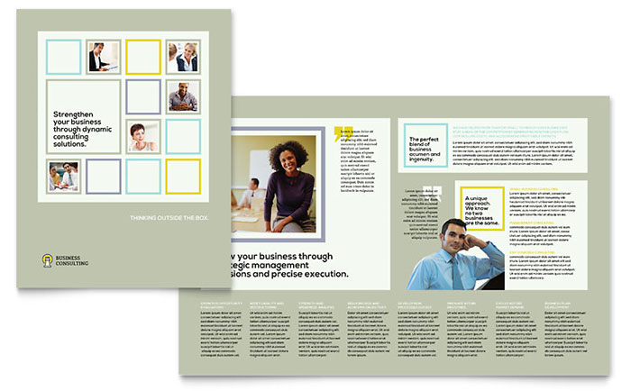Business Consultants Brochure Template Design