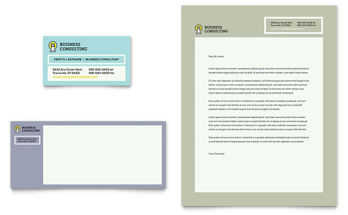 Professional Services Letterheads Templates  Design Examples