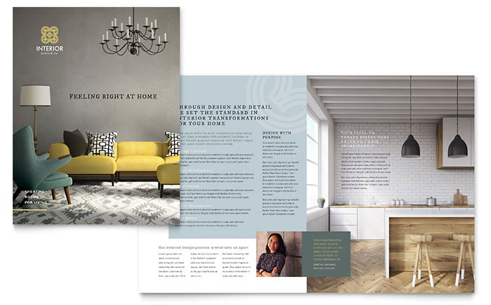 Interior Design Brochure Template Design - interior design brochure template