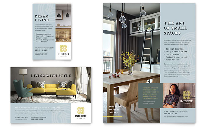 Interior Design Flyer  Ad Template Design - interior design flyers