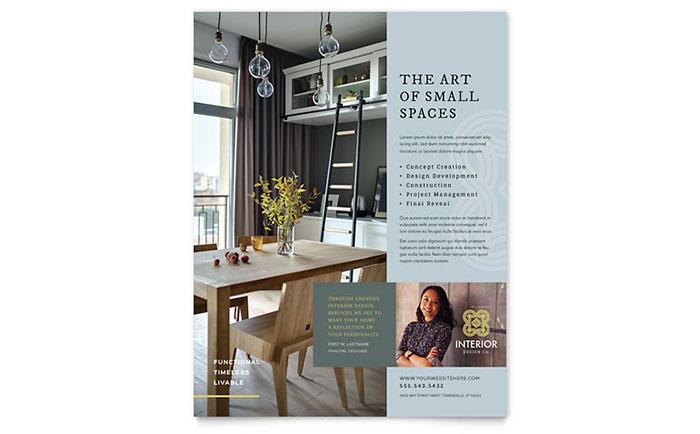Interior Design  Furniture Templates - Brochures, Flyers, Business - interior design flyers